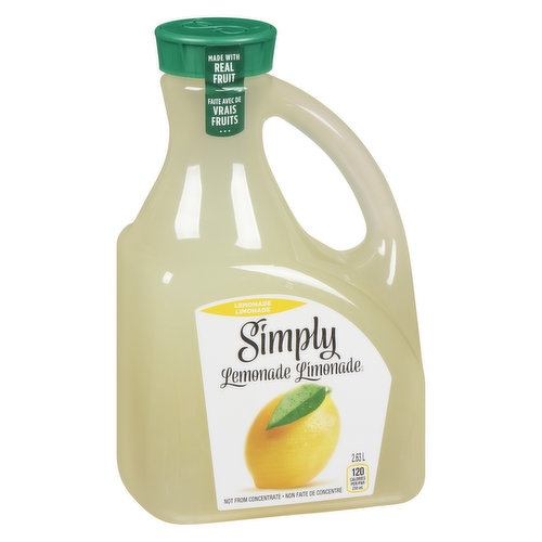 Not From Concentrate. Made from Real Lemons. 120 Calories per 250ml.