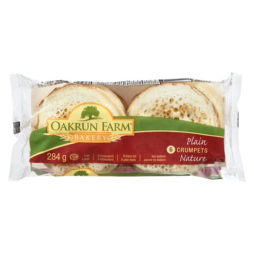 Baked in the English tradition, they are light in taste, are spongy in texture.  Only 90 calories, contain no cholesterol, no trans fats, low in fat and saturated fat.