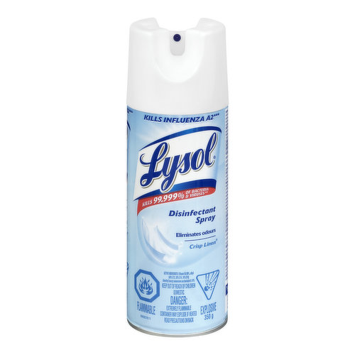 Kills Influenza A2, Eliminates Odours Kills 99.999% of Bacteria & Viruses