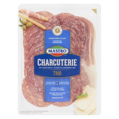 Combo Pack of Genoa Salami, Salami Prosciutto, Prosciutto.  Gluten and Lactose Free.