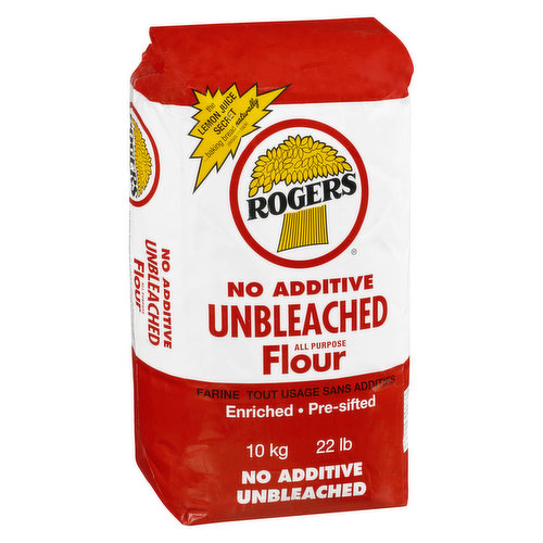No Additive Unbleached. Enriched and Presifted.