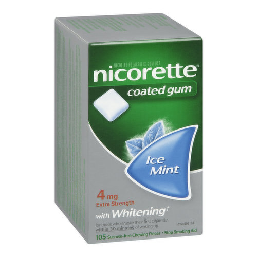 Allows You to Actively Control How Much Nicotine You Use and When You Use It. When You Chew NICORETTE Gum it Releases Controlled Amounts of Nicotine Into Your Body to Help You Deal With Cravings.