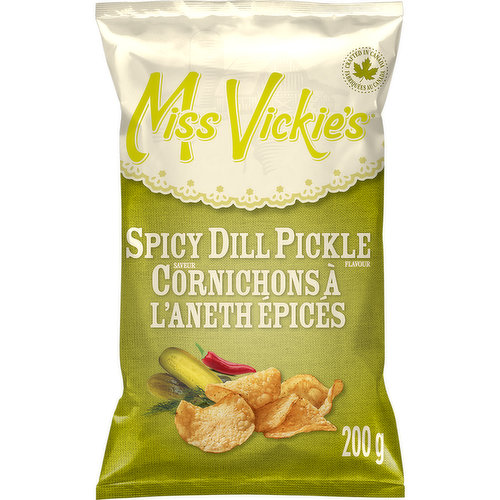 Kettle cooked potato chips, with flecks of dill seasoning. No artificial flavours or colours...enjoy