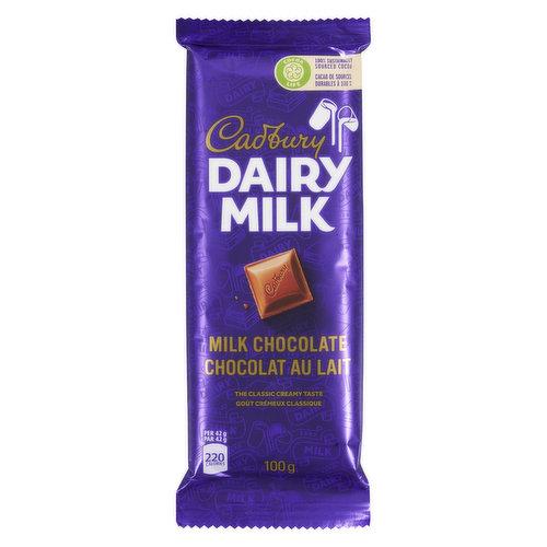 Deliciously creamy milk chocolate