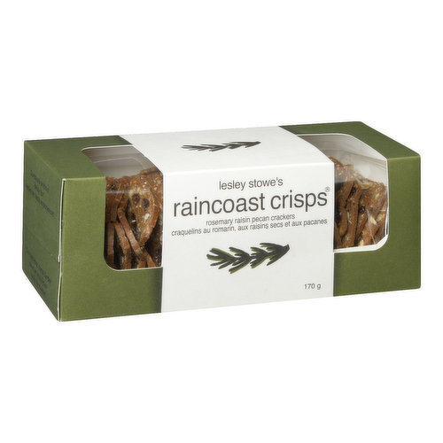 Chock full of toasty pecans, rosemary and dark juicy raisins, you wont be ale to get enough of these taste bud tantalizing crisps. Amazing on their own or paired with creamy blue cheese and capicola.