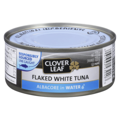 Dolphin Friendly. Flaked White Albacore Tuna in Water.