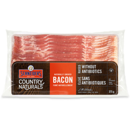 Made With Pork and Natural Ingredients. No Preservatives Added. Pork, Water, Sea Salt, Cane Sugar, Cultured Celery Extract, Spice and Smoke. Pork Raised without Antibiotics.
