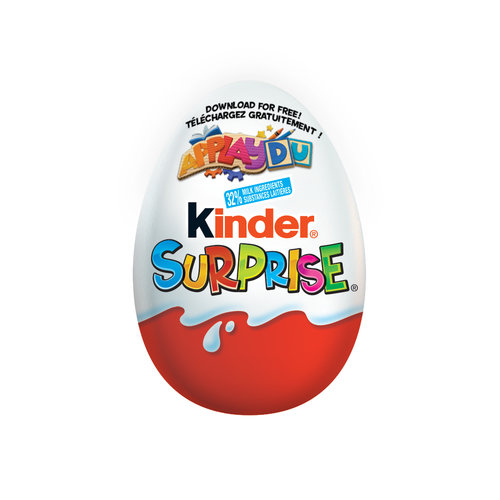 Milk chocolate with Milky Lining and Surprise Toy.Peanut Free! 32% Milk Ingredients.