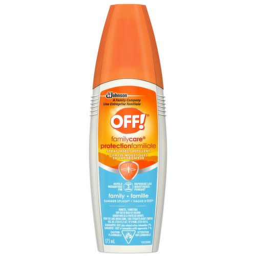 insect repellent spray ideal for use during outdoor activities such as barbecues, gardening and backyard play. Repels for up to 3 hours.