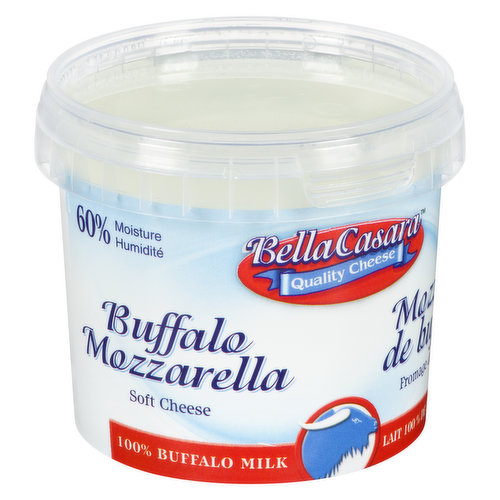 Soft cheese. 100% buffalo milk. 60% moisture.