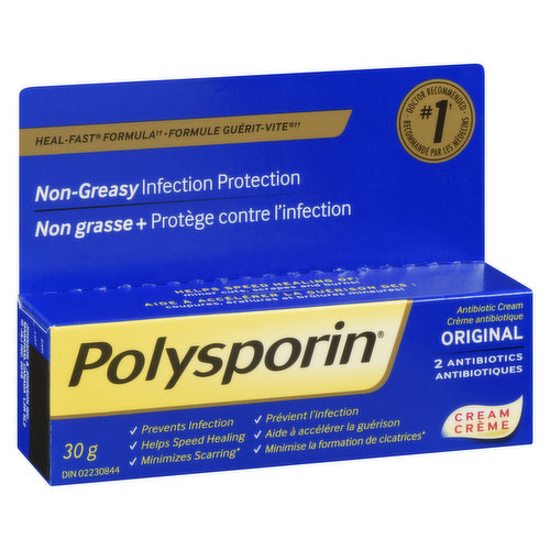 Non-greasy infection protection. Minimizes scarring.
