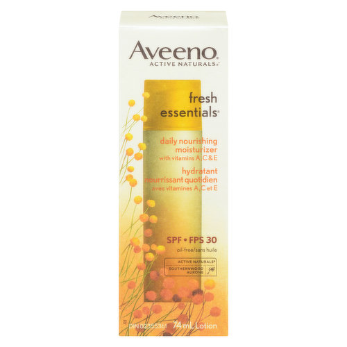 Active Naturals. With Vitamins A, C & E. SPF 30. Oil-Free.
