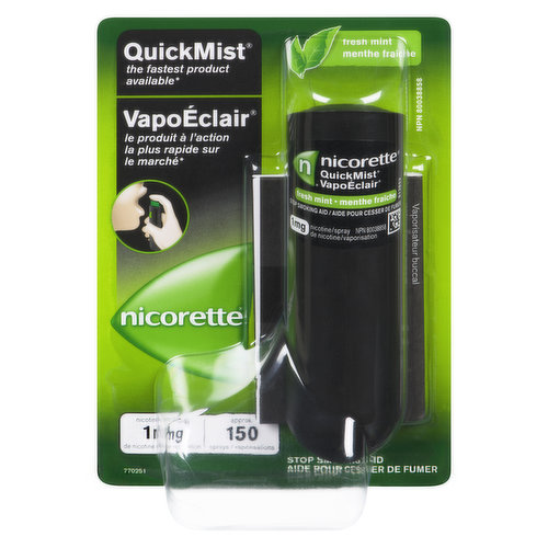 Use the spray whenever you feel the urge to smoke. Helps control your nicotine cravings and withdrawal symptoms. Contains 150 sprays.