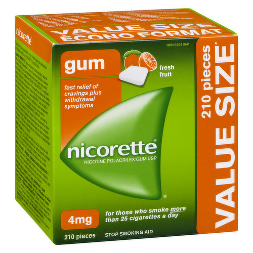 Releases controlled amounts of nicotine into your body to help you deal with cravings and withdrawal symptoms. For those who smoke more than 25 cigarettes a day. Contains 2mg of nicotine in each piece