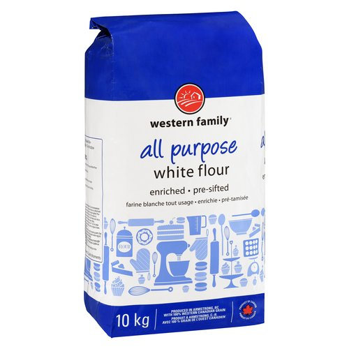 Enriched White Flour, Pre Sifted.