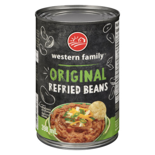 Refried beans is a dish of cooked and mashed beans and is a traditional staple of Mexican and Tex-Mex cuisine