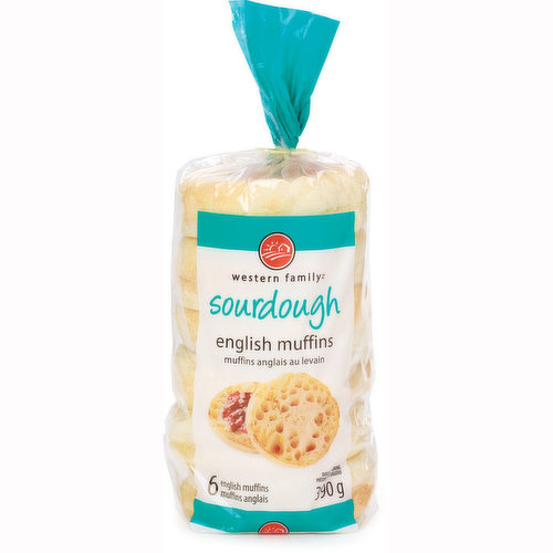 6 English muffins. Made with no artificial colors or flavors.