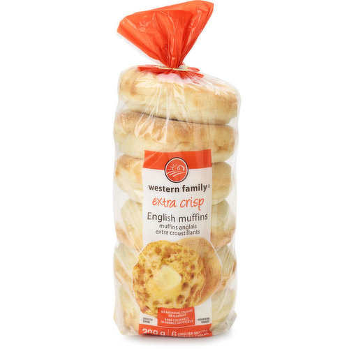 6 English muffins. No artificial colours or flavours.