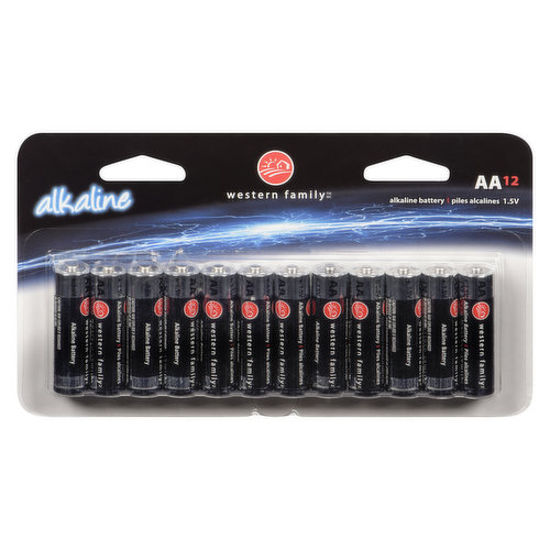 Long lasting and reliable. 1.5V AA alkaline batteries.