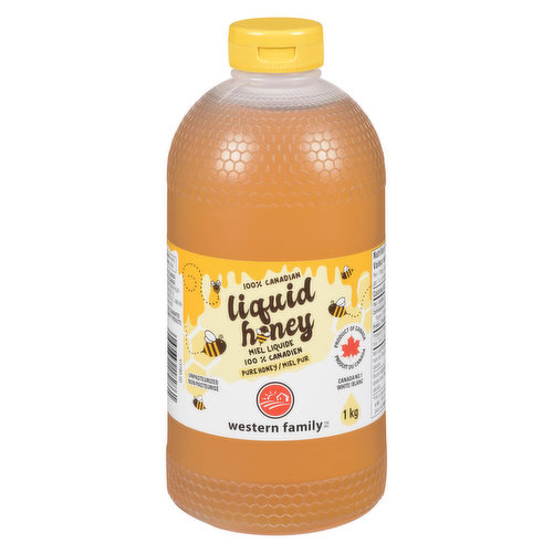 Canada No. 1 White Liquid Honey. Unpasteurized.