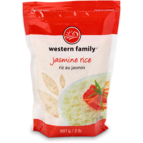 Fragrant white rice, product of Thailand. Great for Curries, Butter Chicken & so many other rice dishes.