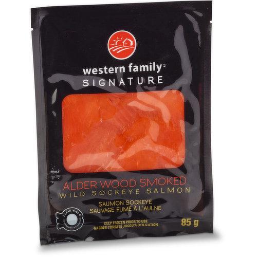 Ocean Wise Sliced, Frozen Wild Sockeye Salmon.
