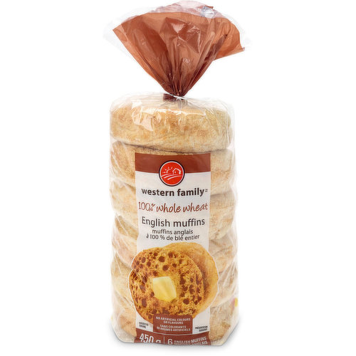 6 English Muffins. 450g Pack.