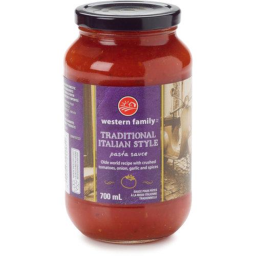 Prepared Italian Style Pasta Sauce.