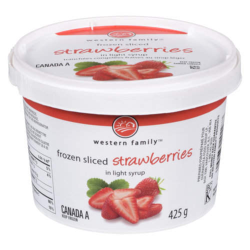 Frozen Sliced Strawberries. Great for Smoothies and Baking.