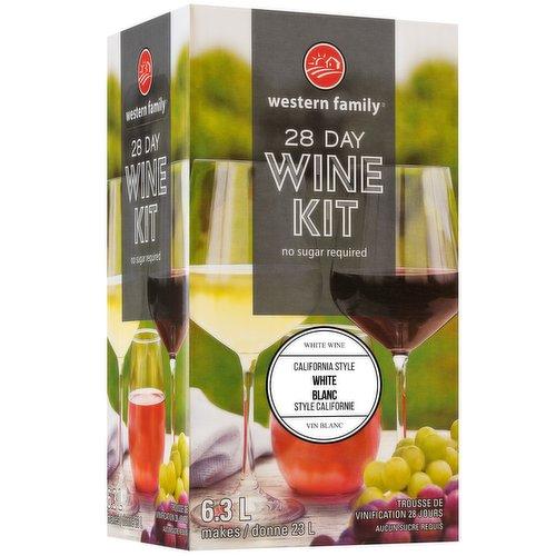 Makes 6.3L Wine. No Sugar Required.