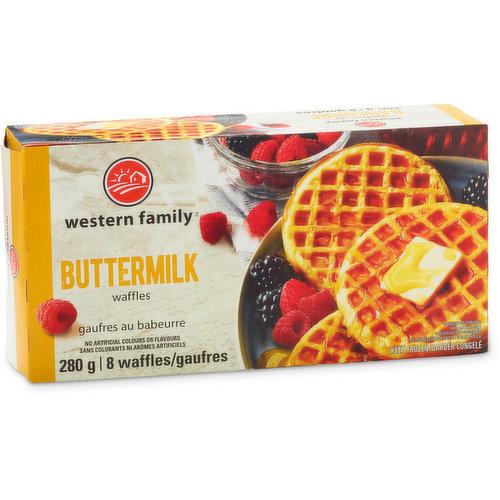 8 Frozen Buttermilk Waffles