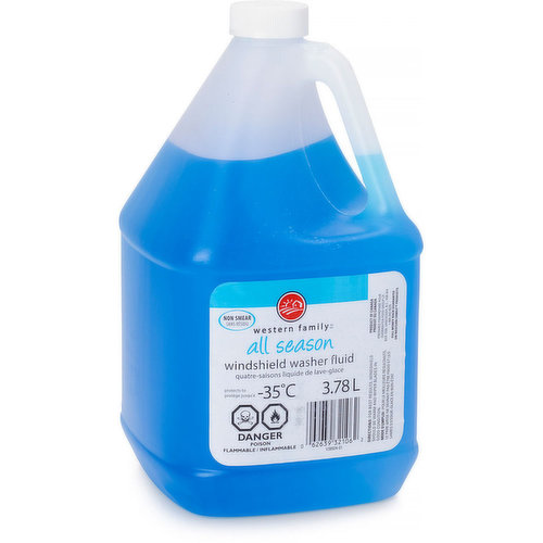 All Season Washer Fluid up to -35 degrees celsius.