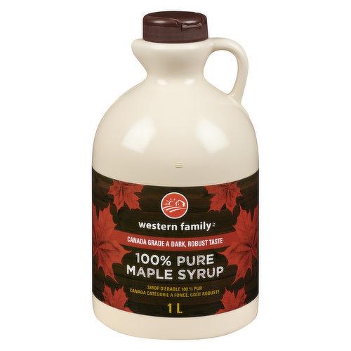 100% Pure Maple Syrup. Canada No.1 Medium.
