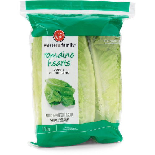 3 Romaine hearts per pack. Wash before using.