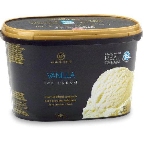 Creamy, old-fashioned ice cream with more & more & more vanilla flavour. An ice cream lover's dream.