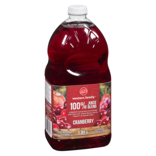 100% juice Blend. No Sugar Added. A Blend of 3 Fruit Juices from Concentrate and Other Ingredients. Excellent Source of Vitamin C. 2 Portions of Fruit per 250ml Serving.