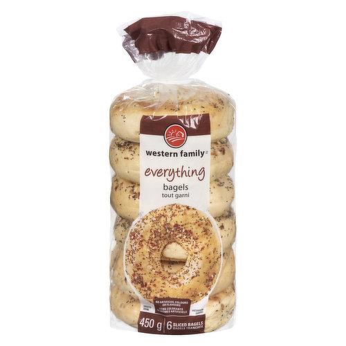No artificial colors or flavors. 6 sliced bagels.