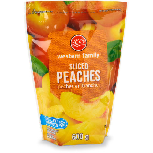 Unsweetened Frozen Sliced Peaches