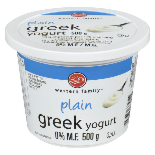 18g of Protein per 175g Serving.