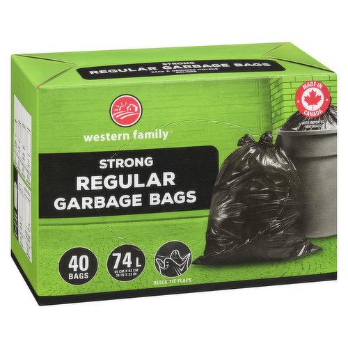 40 Plastic Bags, Fits 67-75L with Quick Flaps. 66cm X 82.6 cm.