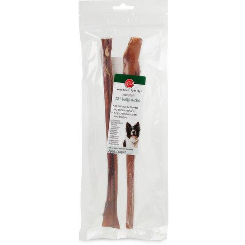 """100% natural beef pet treat. Helps remove Tartar & Plaque. No Preservatives. 2x12""""."""