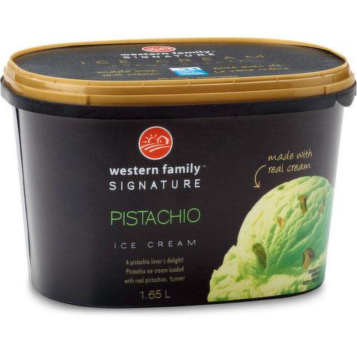 A pistachio lover's delight! Pistachio ice cream loaded with real cream & pistachios. Yumm!