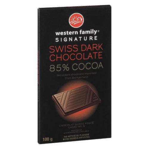 Extra Dark Chocolate Imported From Switzerland.