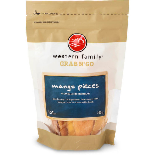 Dried Mango Slices Prepared from Mature, Fresh Mangoes that are Harvested by Hand.