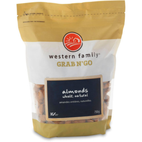 All Natural whole Almonds