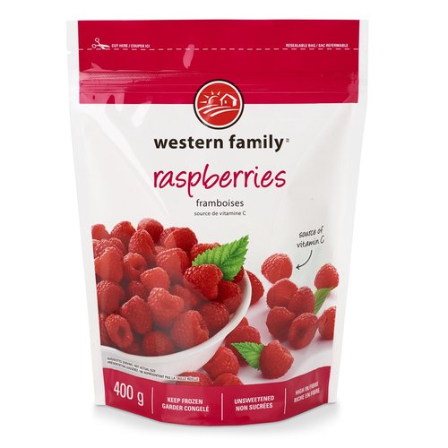 Excellent source of vitamin C & fibre. Unsweetened. Resealable pouch. Keep frozen.