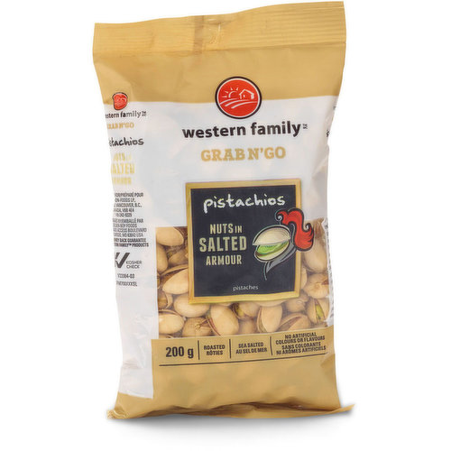 Roasted and Sea Salted Pistachios.