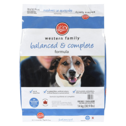 For Dogs 1 year & older. Corn & Wheat Free, No Added Fillers, Artificial Colours, Artificial Flavours or Preservatives. Rich in Protein, Antioxidants, DHA and Omega fatty acids.