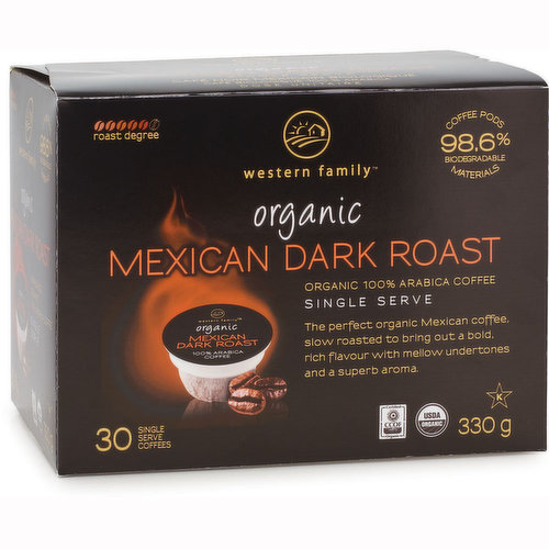The Perfect Organic Mexican Coffee, Slow Roasted to Bring out a Bold Rich Flavour with Mellow Undertones and Superb Aroma. 98.6% Biodegradable Materials. For use with Keurig K-Cup brewers.