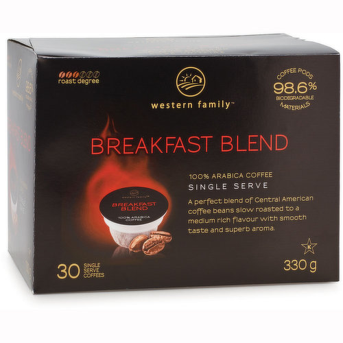 A Perfect Blend of Central American Coffee Beans Slow Roasted to a Medium Rich Flavour with Smooth Taste and Superb Aroma. 98.6% Biodegradable. For use with Keurig K-Cup brewers.